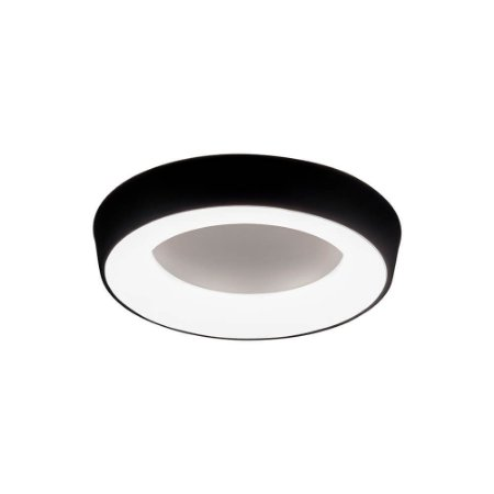 Plafon Apollo Bivolt LED 4000K 470 x 470 x 85mm Preto Total Newline 581LED4PT