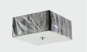 Plafon Stela Alumínio, Tecido e Acrílico 40x40x18cm 3xE27 Bivolt Cor Preto Adn+ P80203BK