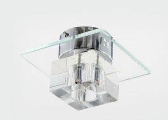 Plafon de Teto Cristal 1 lâmpada G9 20w 17x17x12 cm Adn+ RLX91159-1A