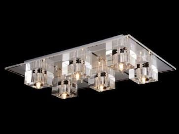 Lustre Shira Metal e Vidro 61x41x11cm 6xG9 Bivolt Adn+ RLX92165-6
