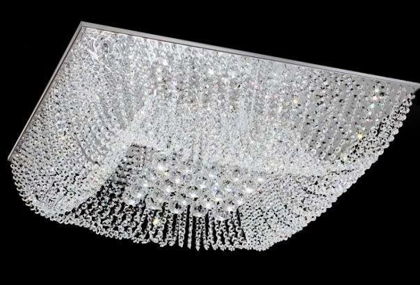 Plafon Pudim 12 Lâmp. Cristal transparente Tam: (A) 15 x (D) 55cm Adn+ SJ6235/12