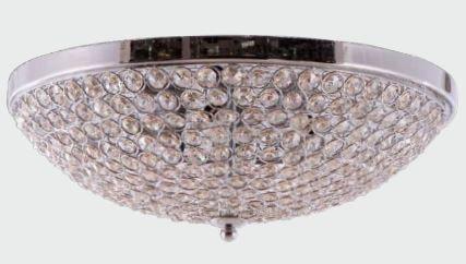 Plafon Metal + Cristal 4 Lâmpadas G9 φ380*125 Champagne Adn+ MX120715-4 CH+CP