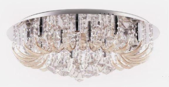 Pendente Metal + Vidro + Cristal 12 lâmpadas G9 40w 680*H200mm BIVOLT Adn+ X1554-12
