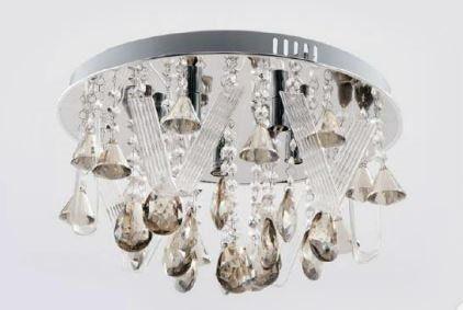 Plafon c/kit Lustre ( Pendente ou lustre ) de Cristal 5 Lâmpadas G9 400mm Adn+ 9289(400)