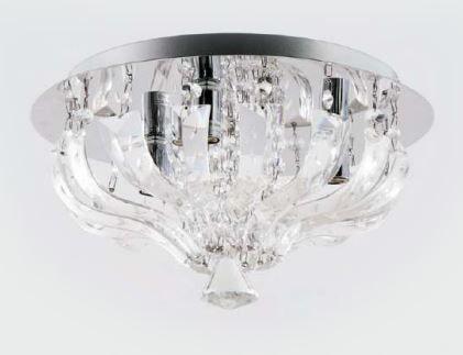 Plafon Metal Cromo + de Cristal K9 2 lamp. G9 250 x 230 mm Adn+ 1023-250