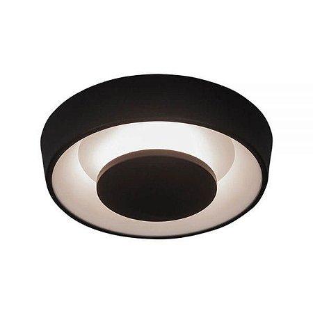 Plafon Iris 220V LED 2700K – 600 x 600 x 102mm Preto Total e Preto Total Newline 452LED2PTPT