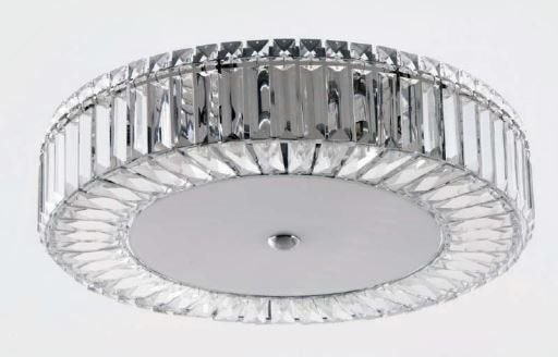 Plafon Margarida 2 Redondo Cristal Transparente ø 50x10cm 9xG9 Bivolt Adn+ 8169-X9