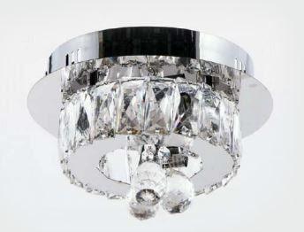 Plafon Cristal Transparente 3 Lâmpadas G9 29x29cm Adn+ 8161A-X9
