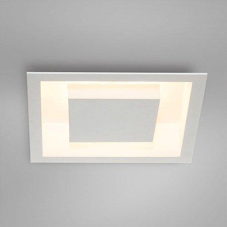 Luminária de Embutir Eclipse Quadrada Bco D30 x 30cm x H8cm Itamonte 2041/30
