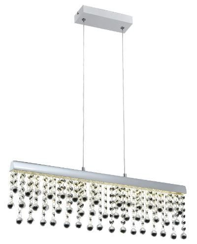 Pendente Munique Alumínio 61,5x10x17cm LED 12W 4000K Cor Cromado Casual Light QPD1277-CR