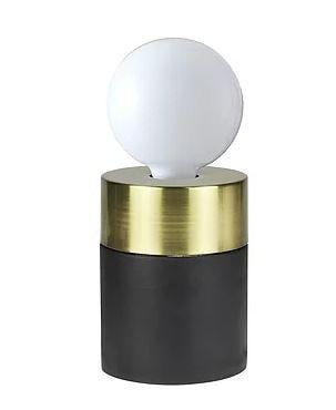 Abajur Tint Metal 9×12 cm 1xE27 40W Cor Preto Detalhe Dourado Casual Light QAB1375DO