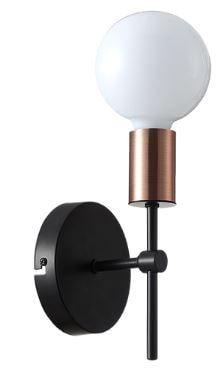Arandela Torch Metal 11x19,5cm 1xE27 40W Cor Cobre Casual Light QAR1349