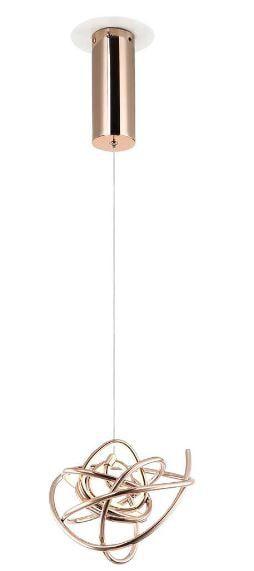 Pendente Ninho 23cm 1xLED 12W Cor Rose Gold Bella Iluminação WD017S