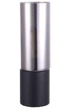 Abajur Spire Vidro e Metal 9x30cm 1xE27 Lâmpada LED de Filamento Cor Preto Casual Light QAB1325FM