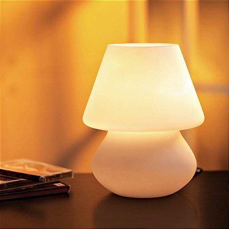 Abajur Disc 1XE27 ø15cm x 18,5cm Cor Branco Bella Iluminação HB820