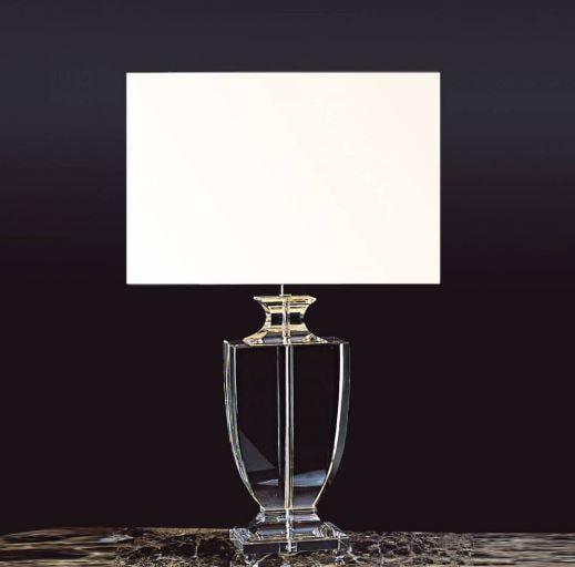 Base para Abajur Classic 16x11x45cm 1XE27 Cor Cromado e Transparente Bella Iluminação XL1121