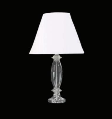Base para Abajur Scent ø16cm x 54cm 1XE27 Cor Cromado e Transparente Bella Iluminação XL1339