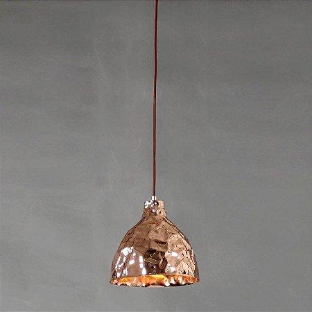Pendente Brass Metal 25xØ25,5cm 1XE27 Cor Cobre Bella Iluminação JY003B