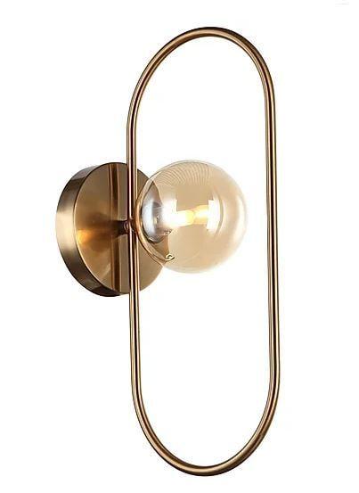 Arandela Cadre Metal e Vidro 39x20x10,1cm 1xG9 5W Cor Bronze e Champagne Casual Light AR1332BZ