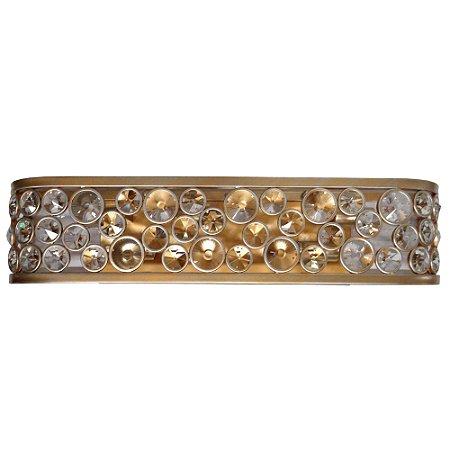 Arandela Champ 10x14,5x66cm 5xE14 Ouro Velho e Transparente Bella Iluminação MR003