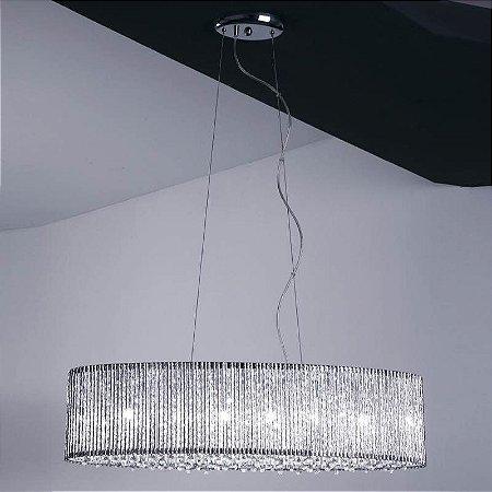 Pendente Adágio Metal 20xØ80 6XG9 Cor Cromado e Transparente Bella Iluminação HO208