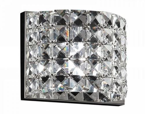 Arandela Sonata 13cmX9cmX13cm 1XG9 Cor Cromado e Transparente Bella Iluminação HO2661W