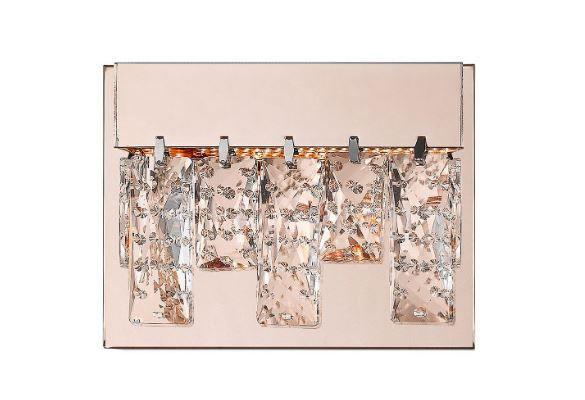 Arandela Véu 5,4W 3000K Bivolt 7x19x13cm Cor Rose Gold e Transparente Bella Iluminação HO301