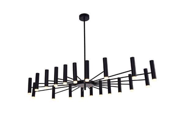 Pendente LED Vinte 60W 2700K Bivolt  71,5cm x 13,5cm x 126cm Cor Preto Bella Iluminação JJ013B