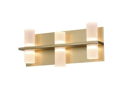 Arandela Clair 24W  19cmx15cmx43cm 6 lâmpadas Led Cor Sand Gold Bella Iluminação JJ012