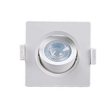 Spot Embutir Quadrado Alltop MR16 3000K 5W 90x90x45mm Taschibra 7897079083569