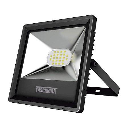 Refletor TR LED 20W 3000K 170x120x20mm Cor Preto Taschibra 7897079079074