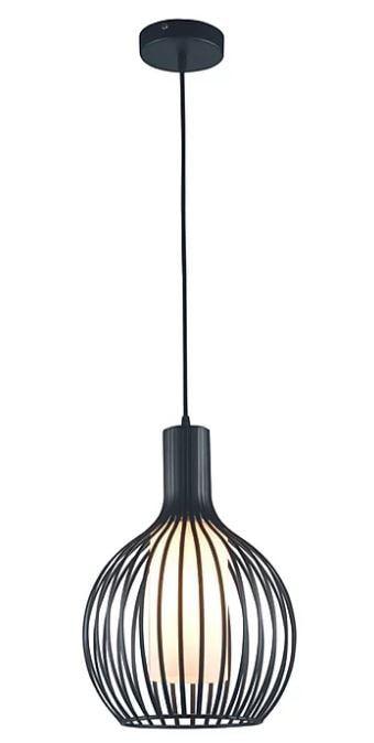 Pendente Lyon Metal e Vidro 30x40cm 1xE27 40W Cor Preto Casual Light ID8153