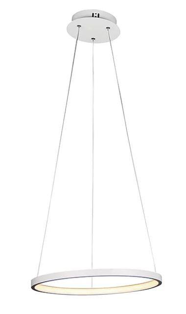 Pendente Montreal Alumínio 40x2cm LED 20W 3000K Cor Branco Casual Light QPD1300-BR