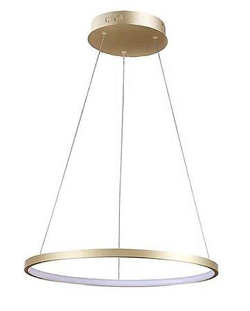Pendente Montreal Alumínio LED 20W 40x2cm 3000K Cor Dourado Casual Light QPD1300-DO