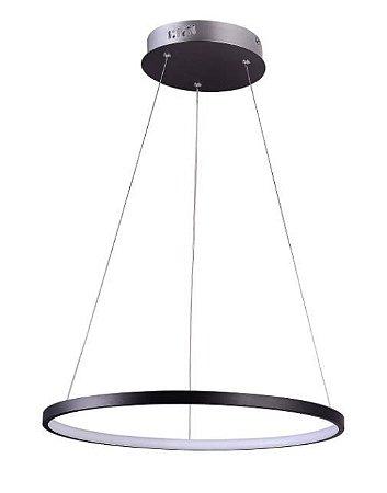 Pendente  Montreal Alumínio 40xA2cm LED 20W 3000K  Cor Preto Casual Light QPD1300-PT