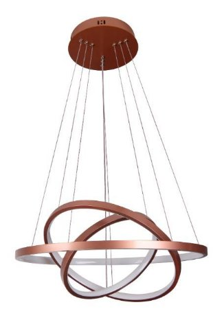 Pendente Montreal 60x50x40x2cm LED 89W 3000K Cor Cobre Casual Light QPD1303-CO