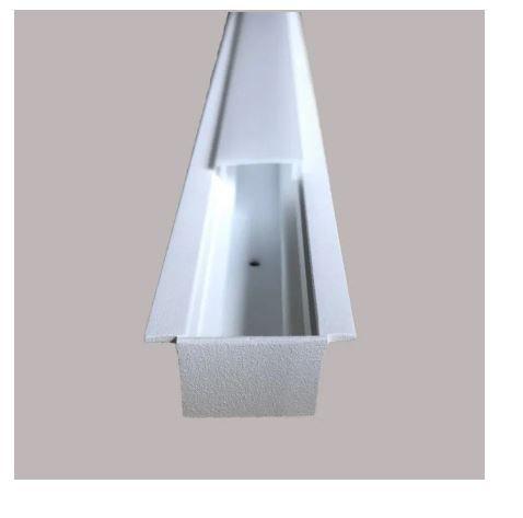 Perfil Embutir Linear Linha Garbo 34x900x17mm Branco Texturizado Usina 30030/90 BT