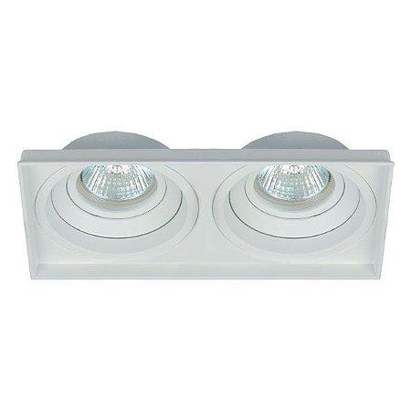 Luminária Embutir Quadrado Recuado No Frame Duplo 2xPAR20 198x103x46mm Branco  Interlight 4715
