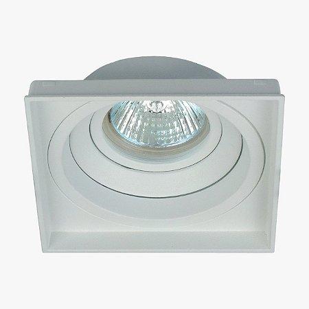 Luminária Embutir Quadrada Recuado No Frame MR16 GZ10 103x103x38mm Cor Branco Interlight 4718