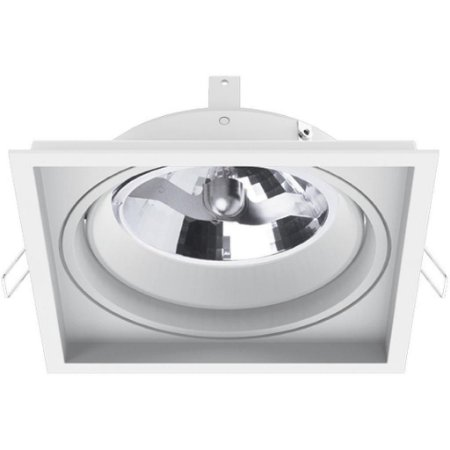 Luminária Embutir No Frame Quadrado Metal AR111 GZ10 144x144mm Interlight  4751-GZ