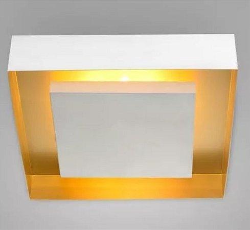 Luminária de Sobrepor Rebatedor Eclipse Quadrada 6xE27 56x56cm Itamonte Nac 3045/56