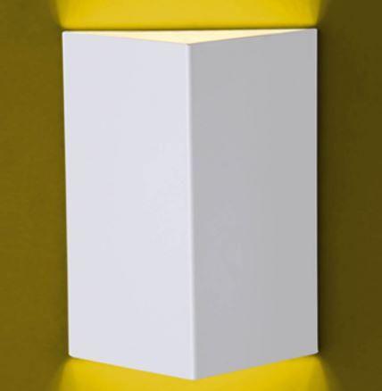 Arandela Flash Meia Face Triângulo Lisa 1xGU9 12,5x14x7,5cm Ideal 920
