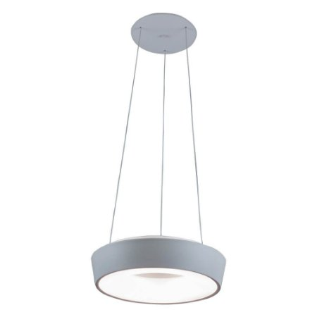 Pendente Apollo 16,8W 4000K 127/220V 35x9cm Cor Fendi Fosco (Concreto) Newline 585LED4FFFF