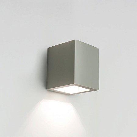 Arandela Quadrada Externas LED 6W 2700K 220V 9x11x10cm Cor Fendi Fosco (Concreto) Newline 9588LED2FF