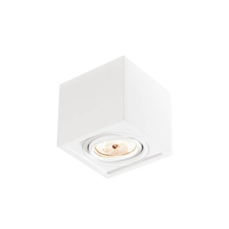 Plafon Box 1xAR111 Led 16x16x11cm Bivolt Branco Total Newline IN41151BT
