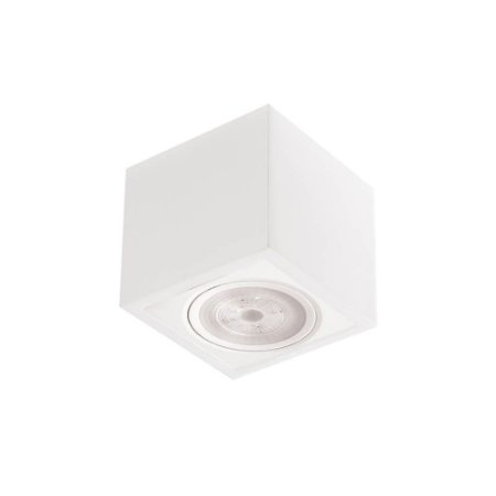 Plafon Box Led 7W 3000K 525LM 127/220V 13x13x7cm Branco Total Newline 562BT