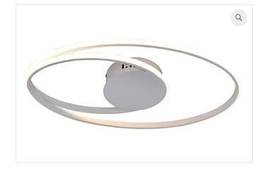 Plafon Occhi Estrutura em Alumínio 54x30x5cm LED 44W Cor Branco Casual Light PL1342BR