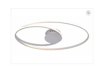 Plafon Occhi Estrutura em Alumínio 69x38x5cm LED 56W Cor Branco Casual Light PL1343BR