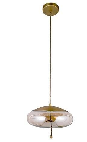 Pendente Triplet Metal e Vidro Ø31x15cm LED 5W 3000K Bivolt Cor Bronze e Champagne Casual Light PD1081