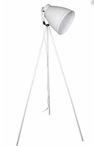 Luminária Bergen Metal 64x54,5x145cm 1xE27 40W Cor Branco Casual Light CL865-BR